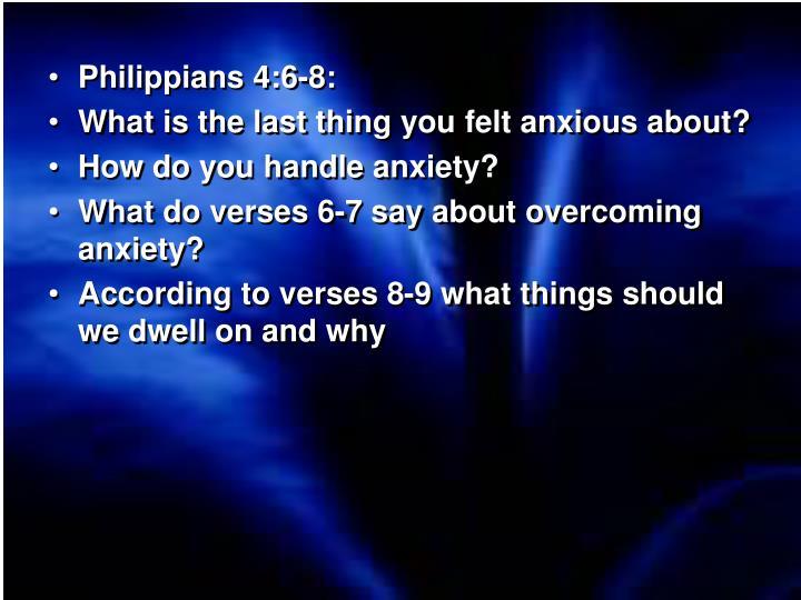 Philippians 4:6-8: