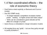 1 4 non coordinated effects the role of economic theory