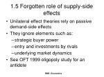 1 5 forgotten role of supply side effects