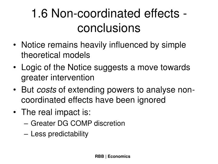1.6 Non-coordinated effects - conclusions