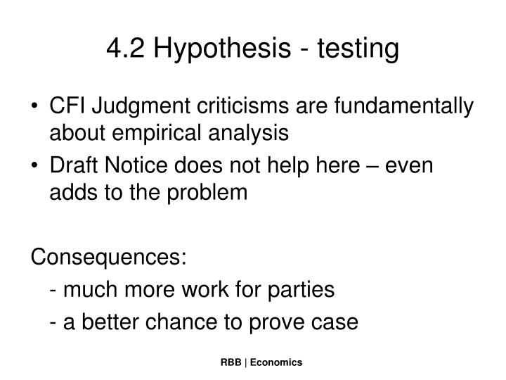 4.2 Hypothesis - testing