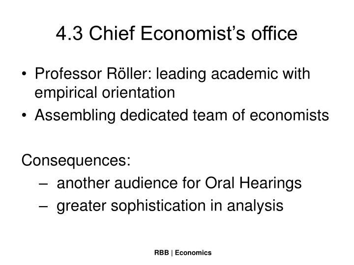 4.3 Chief Economist's office