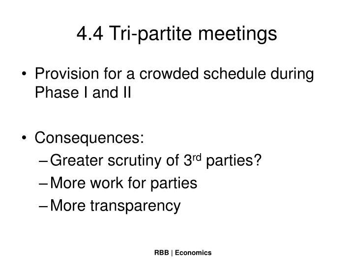 4.4 Tri-partite meetings
