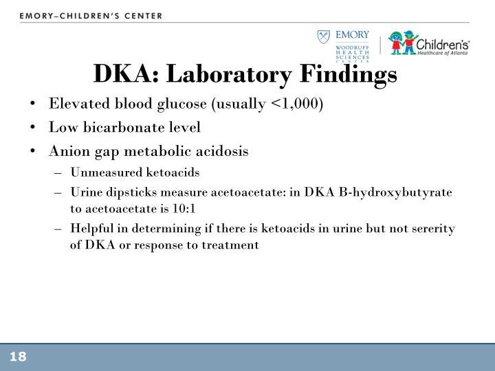 DKA: Laboratory Findings