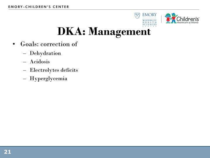 DKA: Management