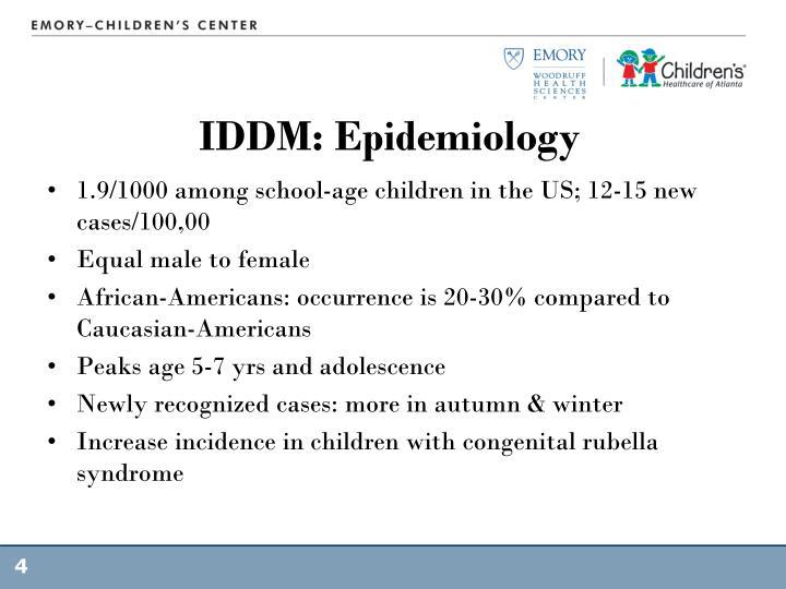 IDDM: Epidemiology