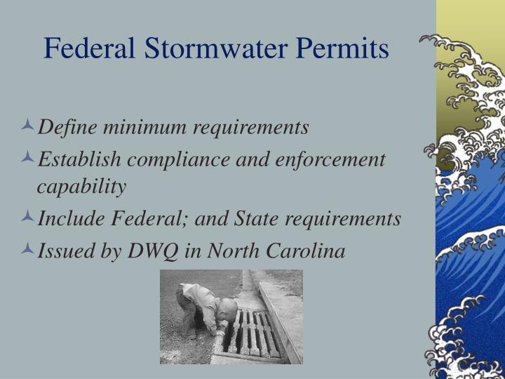 Federal Stormwater Permits