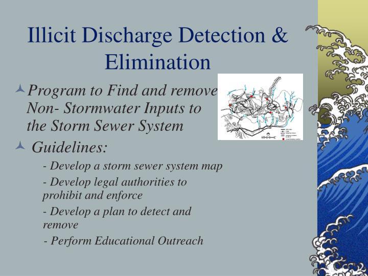 Illicit Discharge Detection & Elimination