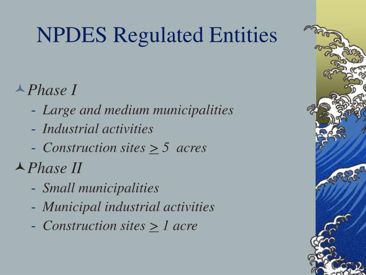 NPDES Regulated Entities