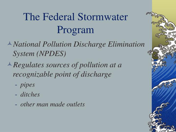 The Federal Stormwater Program