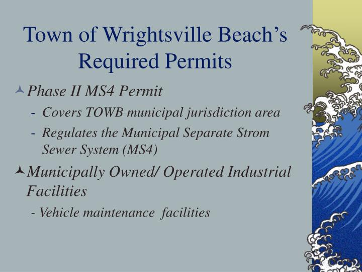 Town of Wrightsville Beach's Required Permits