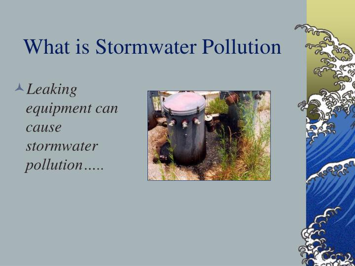 What is Stormwater Pollution