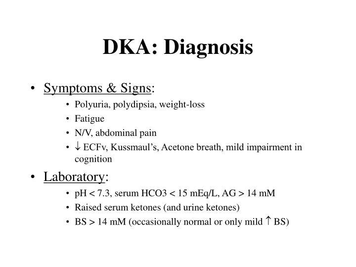 DKA: Diagnosis
