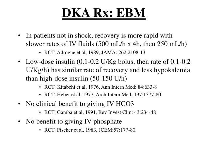 DKA Rx: EBM