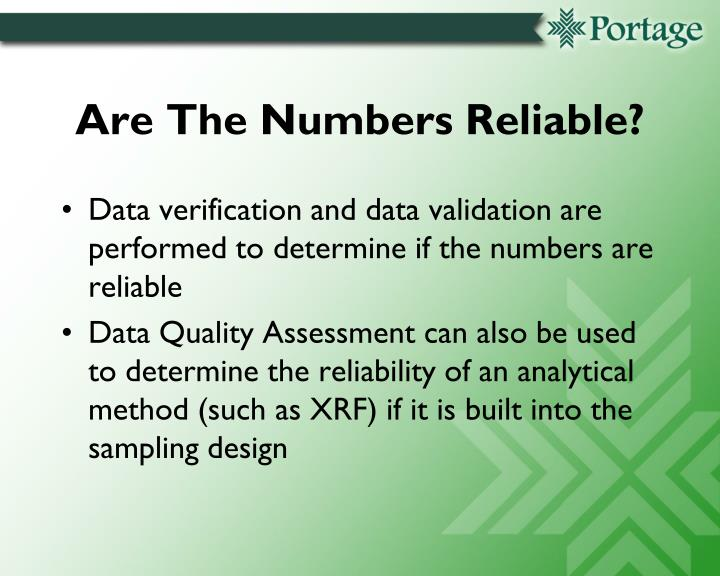Are The Numbers Reliable?