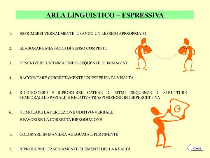 AREA LINGUISTICO – ESPRESSIVA