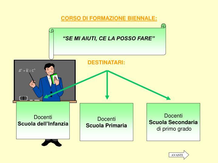 CORSO DI FORMAZIONE BIENNALE: