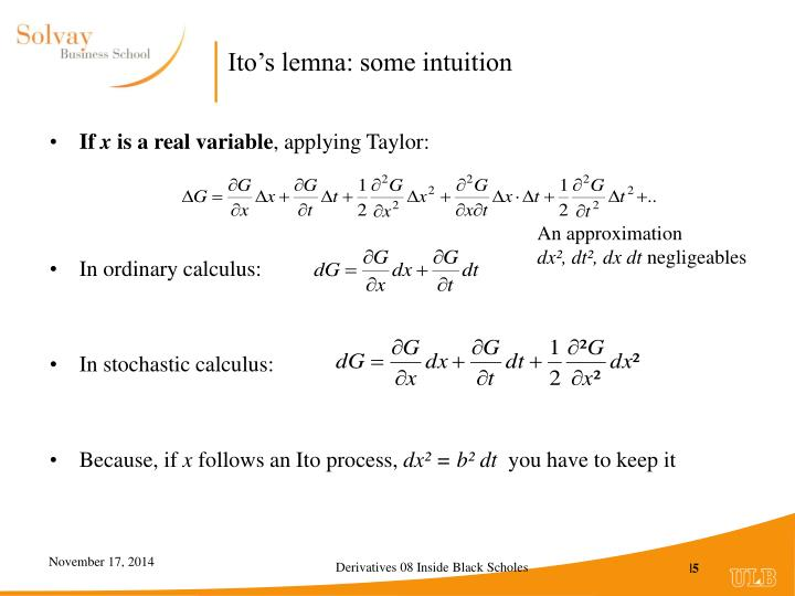 Ito's lemna: some intuition