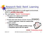 research field reinf learning