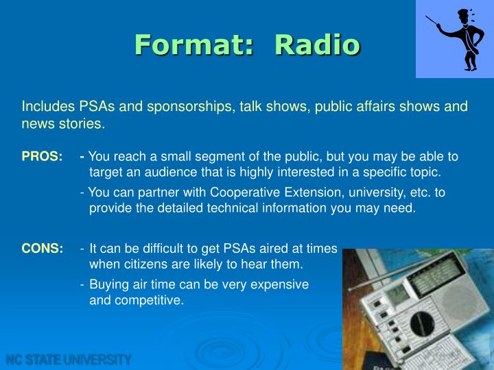 Format:  Radio