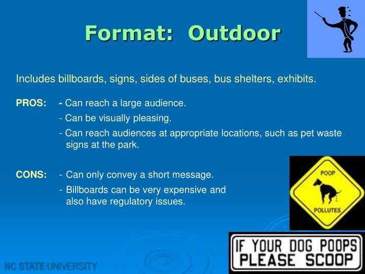 Format:  Outdoor