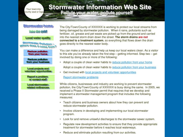 Stormwater home