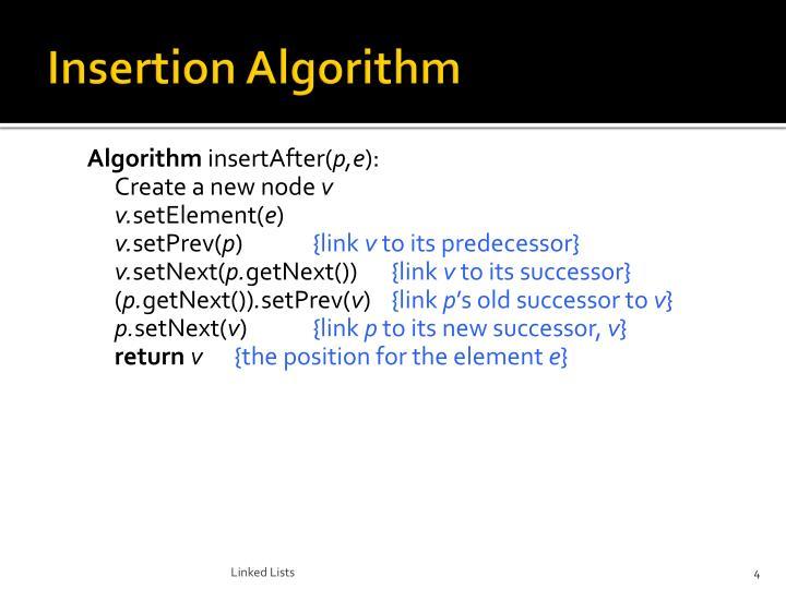 Insertion Algorithm