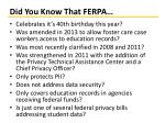 did you know that ferpa