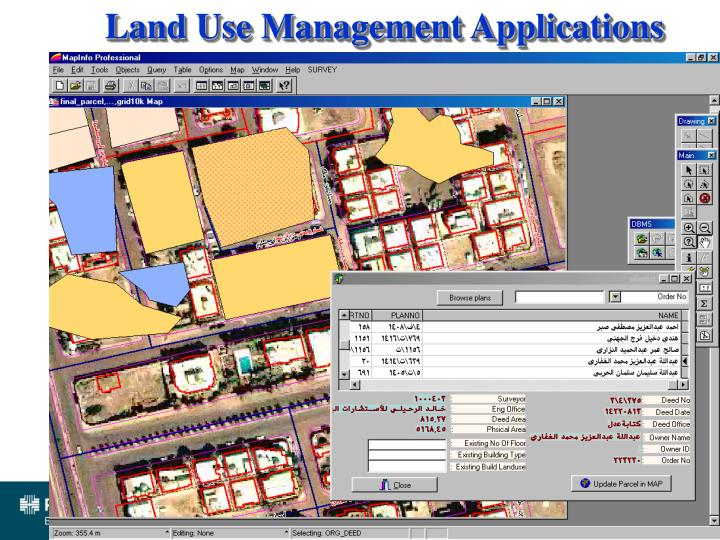 Land Use Management Applications