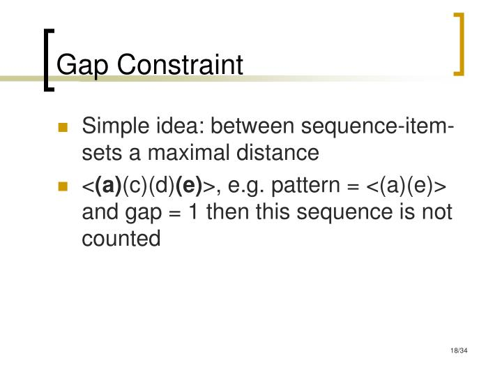 Gap Constraint