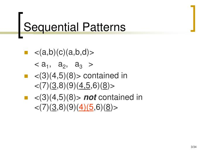 Sequential patterns