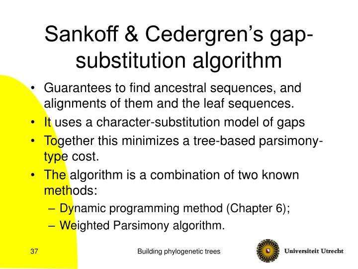 Sankoff & Cedergren's gap-substitution algorithm