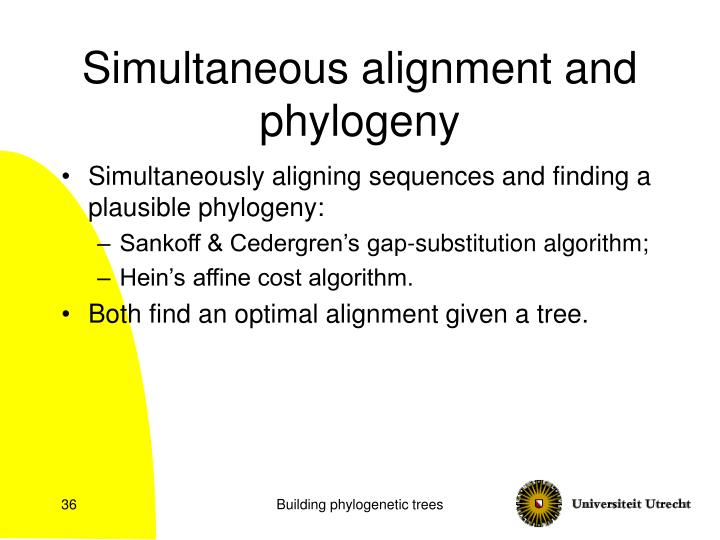 Simultaneous alignment and phylogeny