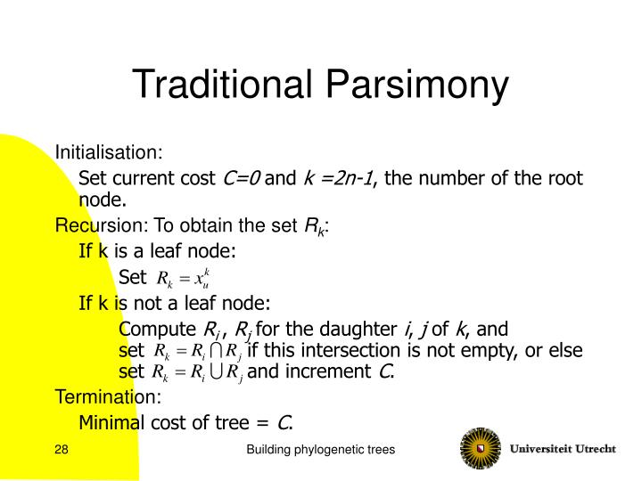 Traditional Parsimony