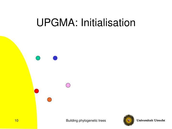 UPGMA: Initialisation