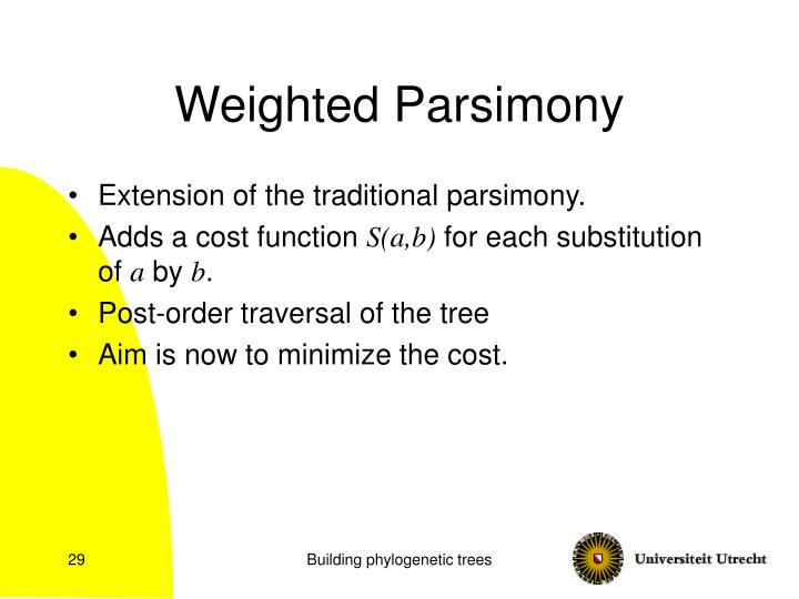 Weighted Parsimony