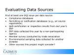 evaluating data sources