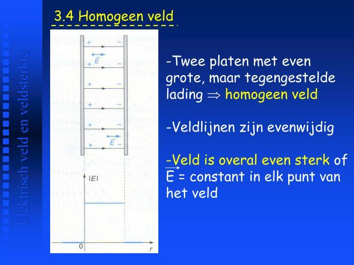 3.4 Homogeen veld