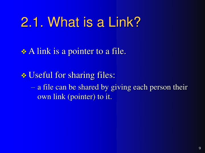 2.1. What is a Link?