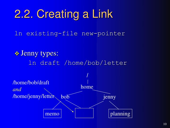 2.2. Creating a Link