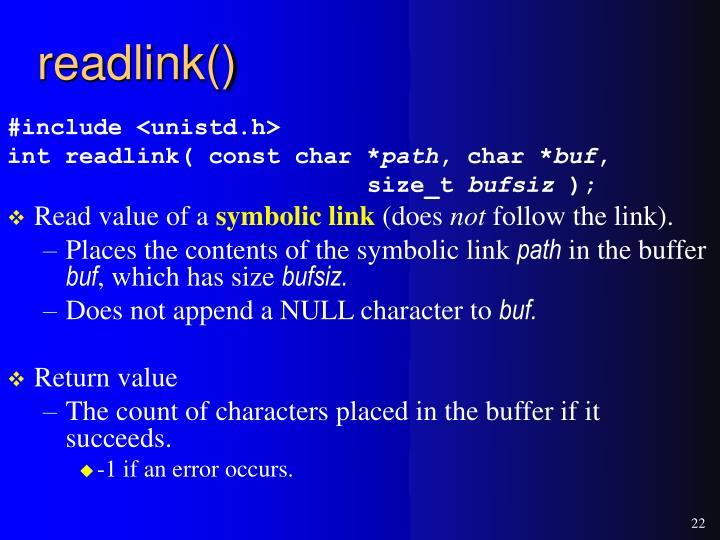 readlink()