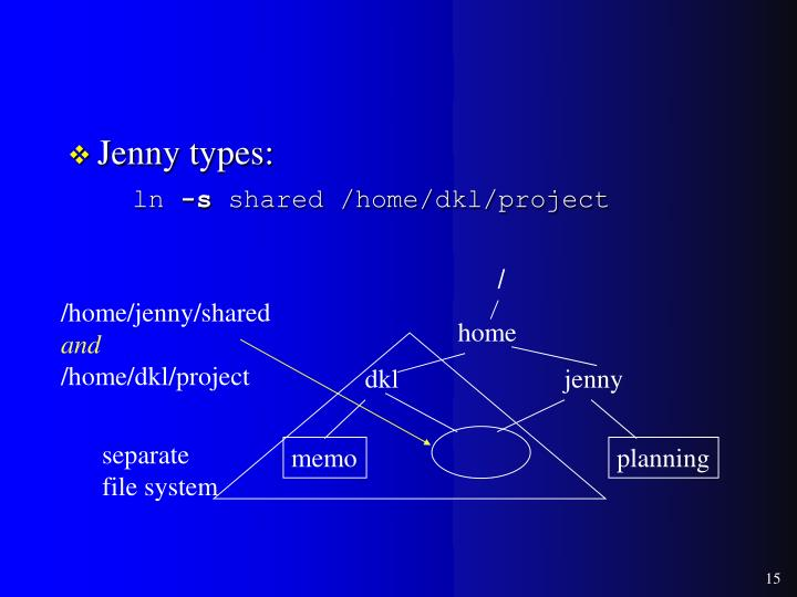 Jenny types: