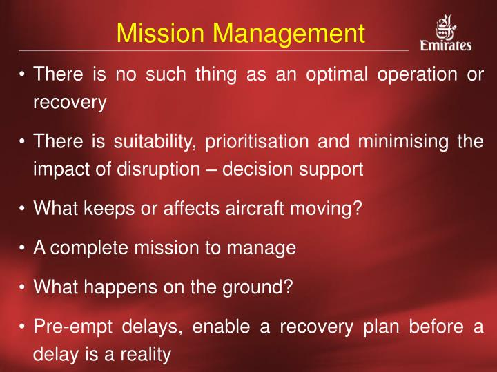 Mission Management