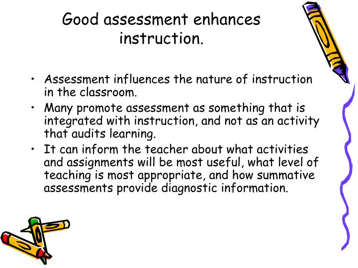 Good assessment enhances instruction.