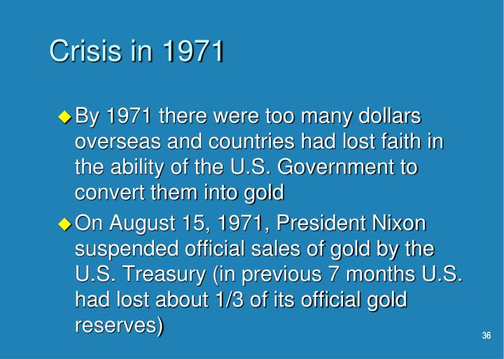 Crisis in 1971