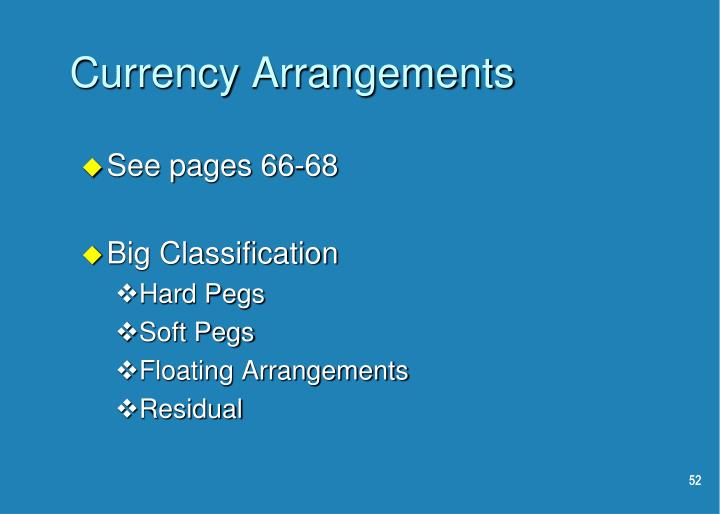 Currency Arrangements