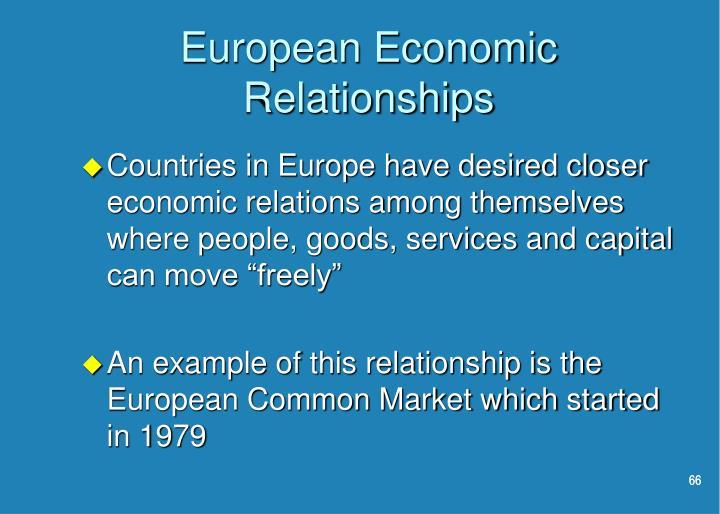 European Economic Relationships