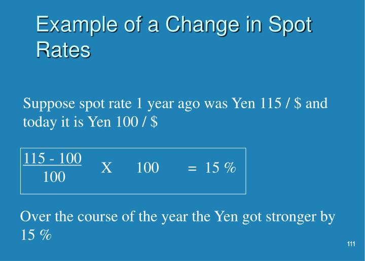 Example of a Change in Spot Rates