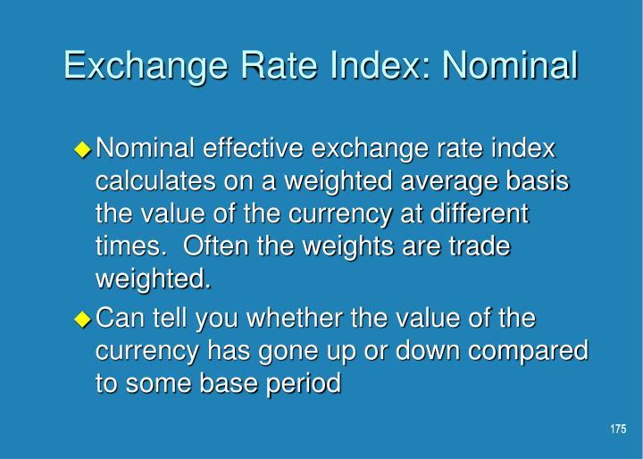 Exchange Rate Index: Nominal