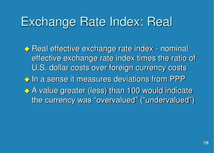 Exchange Rate Index: Real